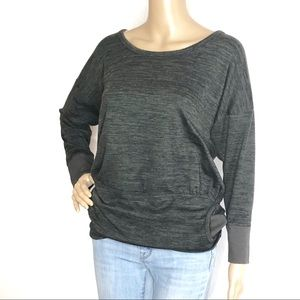Athleta Charcoal Front Pocket Sweatshirt G